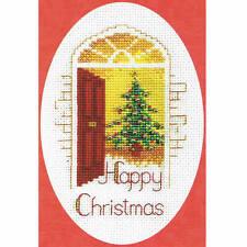 Derwentwater Designs Christmas Cross Stitch Card Kit - Warm Welcome