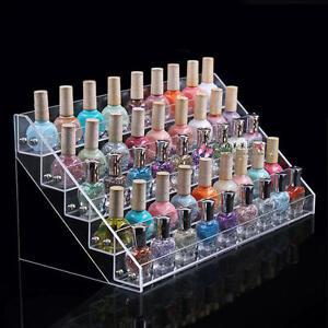 50 Bottles Acrylic Nail Polish Display Rack Stand Holder 5 Tier Makeup Organizer