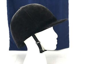 Vintage-Camelot-Saddlery-Cap-English-Riding-Hat-Helmet-Black-Velvet-7-1-8