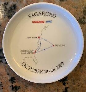 1989-Sagafjord-Cunard-Lines-Ash-Tray-Ash-Tray-Rosenthal-Germany-4-D