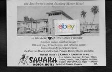 SAHARA MOTOR HOTEL IN HEART OF DOWNTOWN PHOENIX,ARIZONA 1956 AD