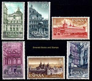 EBS-Spain-Espana-1961-Monastery-of-San-Lorenzo-de-El-Escorial-1277-1282-MNH