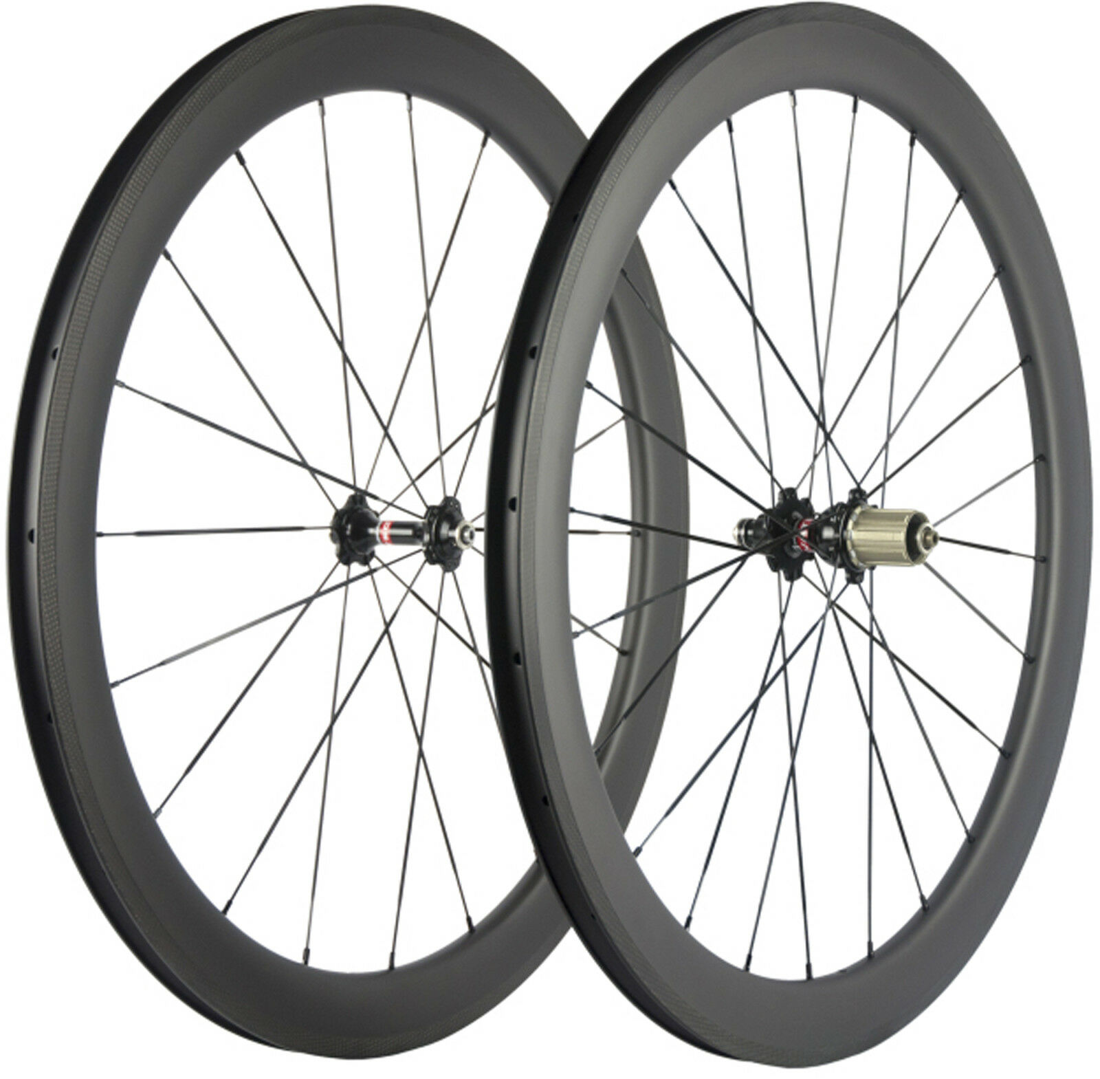 50mm Carbon Wheels Road  Bike Novatec 271 Hub Bicycle Wheelset UD Matte Glossy  factory direct and quick delivery
