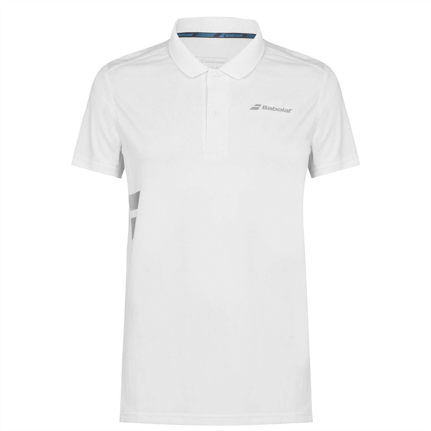 Babolat Mens Polo Shirt Short Sleeve Performance Tee Top Button Placket Tonal