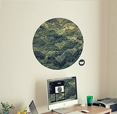 /'Nebula/' Woven Polyester 47x47cm Medium Wall Canvas Poster Picture Self Adhesive