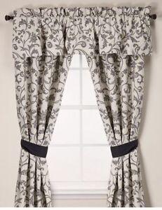 Genial Image Is Loading WEDGWOOD England Acanthus Window Valance Treatment  BLACK White