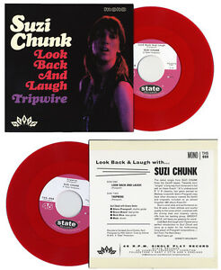 SUZI-CHUNK-Look-Back-And-Laugh-red-vinyl-7-034-Groovy-Uncle-Kravin-As-garage-beat