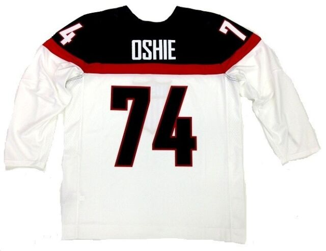 TJ OSHIE TEAM USA 2014 OLYMPICS WHITE NIKE JERSEY WASHINGTON CAPITALS