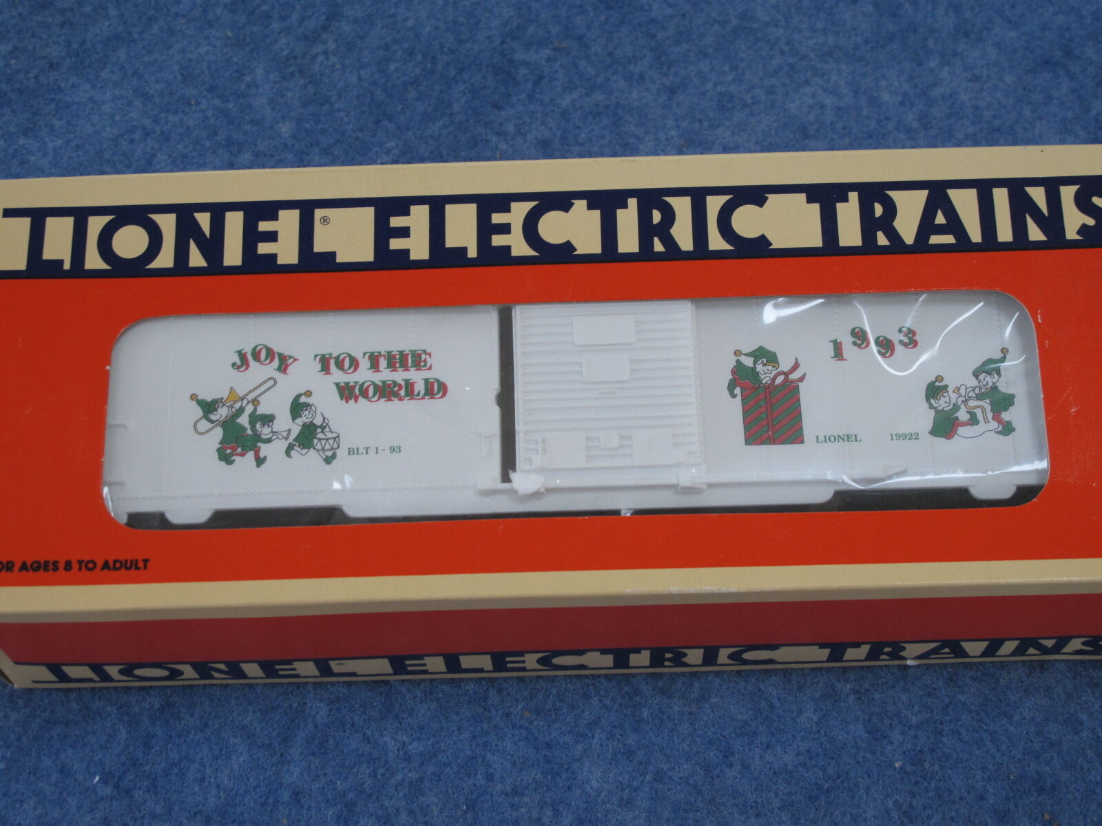 1993 Lionel 6-19922 Christmas Box Car Joy to the World New in Box L1618