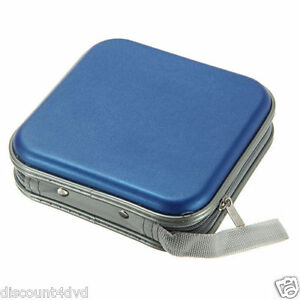 BLUE-CD-DVD-40-Disc-Case-Wallet-Holder-Cover-Water-Resistant-Wallet-Plastic-Bag