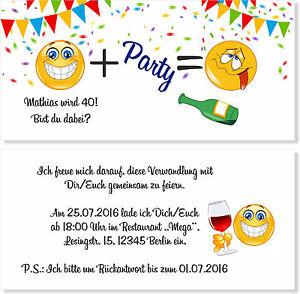 Das Bild Wird Geladen Einladungskarten Zum Geburtstag 20 30 40 50 60