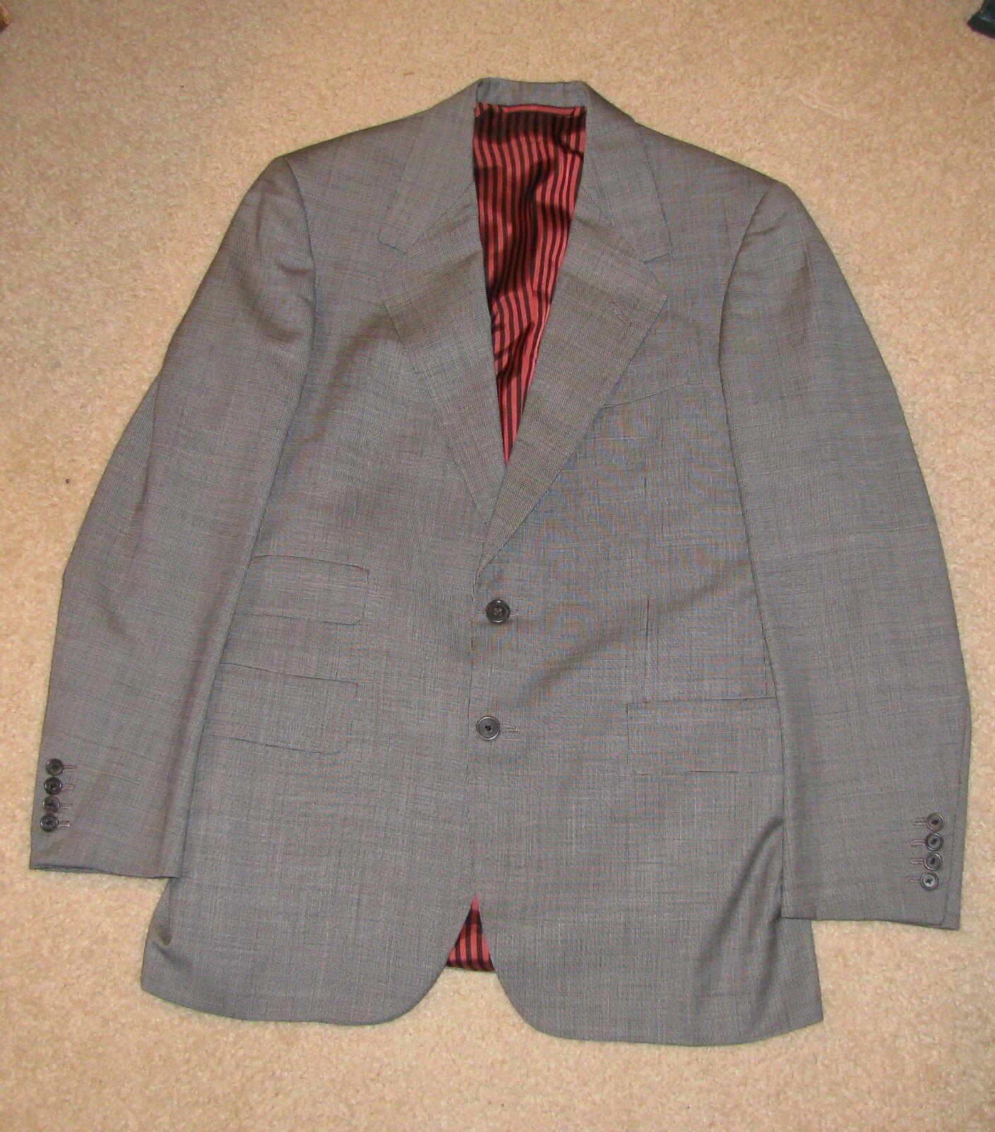 Oxxford Suit, Dark grau, Super 120's, Ex Cond, MTM, 38L