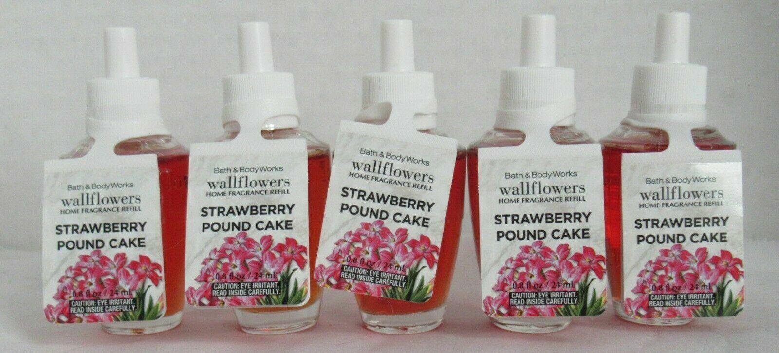 Bath /& Body Works Wallflower Fragrance Refill Bulb Lot 5 STRAWBERRY POUND CAKE