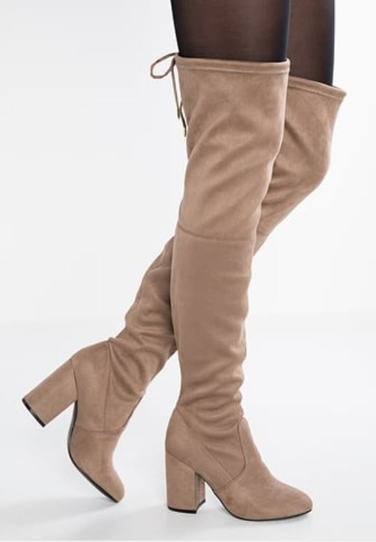 Steve Madden Norri Taupe Over The Knee Boots 9