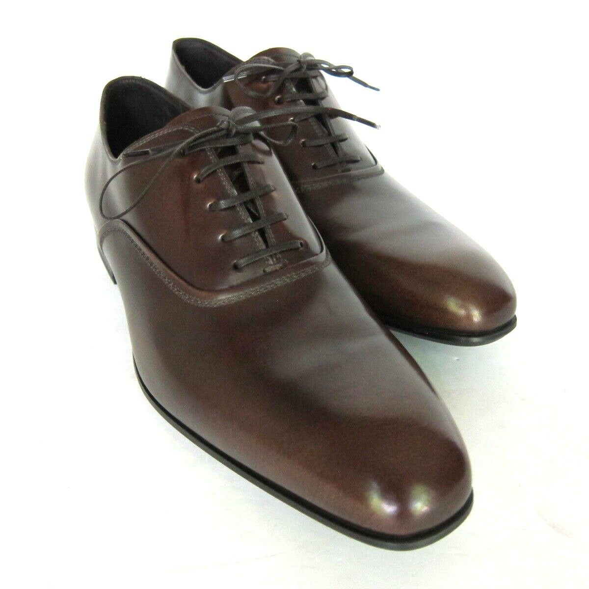 S-2291215 New Salvatore Ferragamo Dunn Madera Leather LaceUp shoes Size US 12D