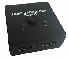 HDMI Bi-directional 2x1 Switch Switcher or 1x2 Splitter Selector 3D 1.4V 1080p