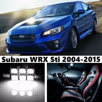 9pcs Xenon White Light Interior Package Kit For Subaru Wrx Sti 2004 2015 6507024094502 Ebay