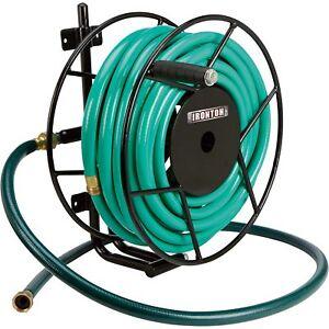 garden hose reel wall mount. Image Is Loading Ironton-Wall-Mount-Garden-Hose-Reel-Holds-100ft- Garden Hose Reel Wall Mount Q