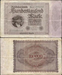 GERMANY-100-000-mark-1923-P-83a-Europe-banknote-Edelweiss-Coins