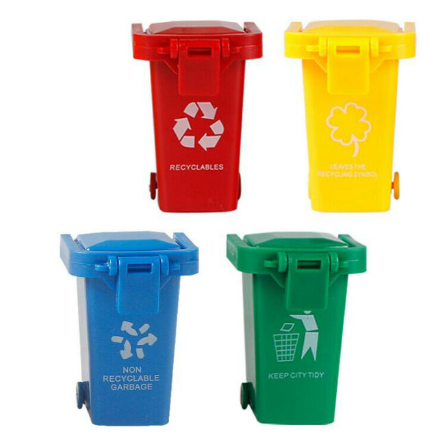 BT/_ 3 Mini Kids Garbage Trash Can Truck Cans Curbside Vehicle Bin Toy Reliable