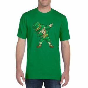 d6cc2322a Adults Unisex St Patricks Day Dab T-Shirt Irish Paddys Leprechaun ...