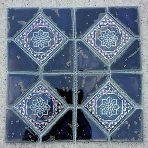 Image Is Loading New Beautiful Blue White Pink Ceramic Mosaic Tile