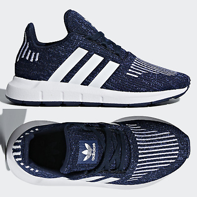 classic fit good quality latest fashion adidas Originals Swift Run Kids Trainers Navy Blue Shoes Boys ...