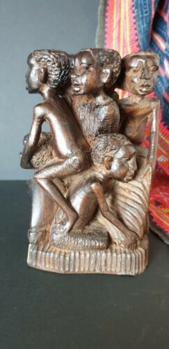 Old African Carving with Eight People beautiful collection & display item