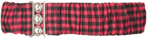 Coste carogna Gingham elastic a quadri Pepita a 50s stretch in vita Cintura Rosso Rockabilly