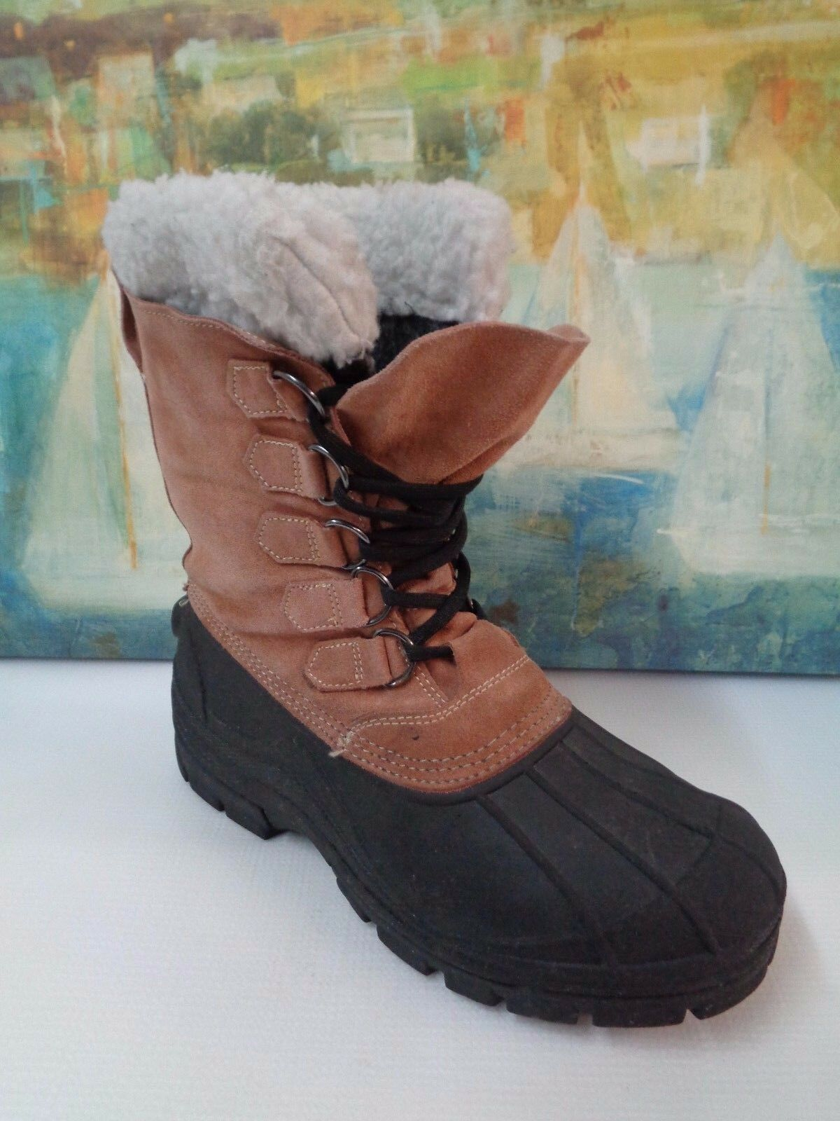 CG Tan Suede duck boots Men sz 11