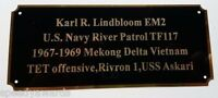 Engraved Brass Plate 2.75 X 6.5 Picture Frame Dedication Art Label Name Tag