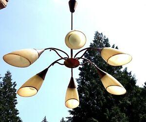 Details About Sputnik Lampe Rockabilly Tutenlampe Mid Century Vintage Spider Lamp 50er 60er