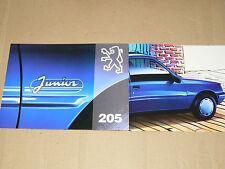 Prospectus PEUGEOT 205  Junior 1993  brochure prospekt  car catalogue