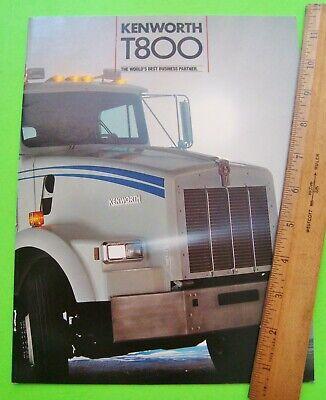 ORIGINAL 1997 KENWORTH T800 HEAVY DUTY TRUCK BROCHURE ~ 12 PAGES ~97KWT800
