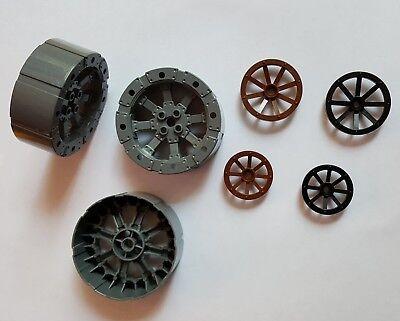 Burg Viking 7020 8942 4490374 55817 2 x Lego Wagen Rad neu-dunkel grau 55mm D