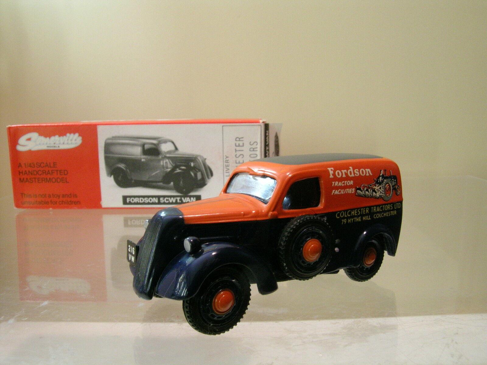 SOMERVILLE ModelllS 107 FORDSON 5CWT VAN COLCHESTER TRACTORS Orange HANDBUILT 1 43