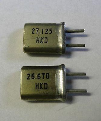 sender Und Empfänger 2 Quarze 27 Mhz Kanal 4 S 27,005 E 26,550