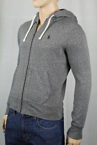 Polo Ralph Lauren Grey Hoodie Full Zip Sweatshirt Green Pony NWT