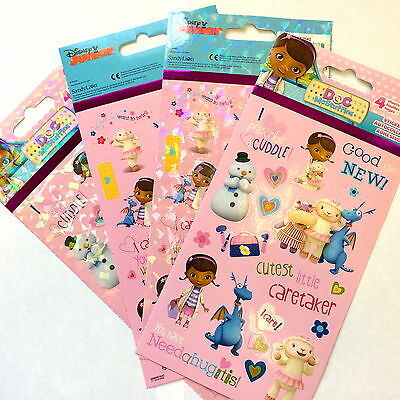 4 Sheets Disney Junior Doc Mc Stuffins Stickers Party Favors Teacher Supply