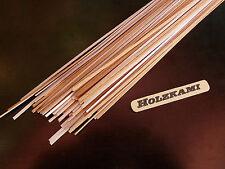 50 Holzleisten Buche  300mm x 1mm bis 5mm x 0,6mm  L/B/H  Selbstklebend