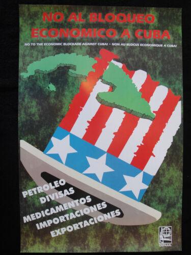 OSPAAAL Political Poster CUBA USA Latin America No to Economic Embargo Of 1991