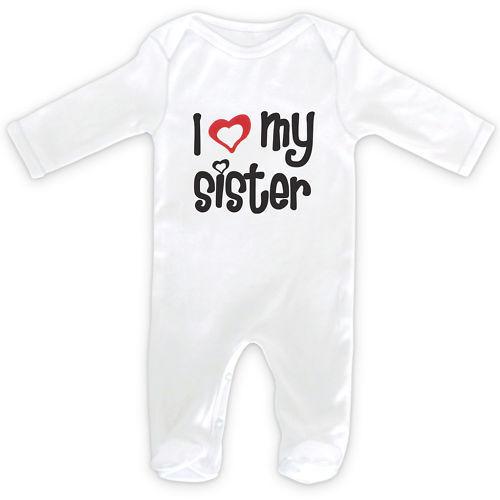 I Love Mein Schwester Baby Schlafanzug Strampler 0-18months