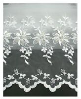 100% Organza White Embroidered Lace Fabric 52-53