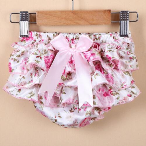 Baby Girls Infant Ruffled Bloomer PP Pants Skirt Diaper Cover Culotte Pant Skirt