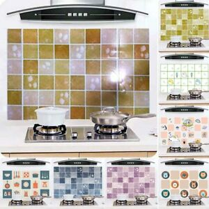 Details About 8Kinds Kitchen Waterproof Tile Decals Anti Oil Washable Wall  Sticker Home Decor