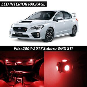 2004 2017 Subaru Impreza Wrx Sti Red Interior Led Lights Package Kit Ebay