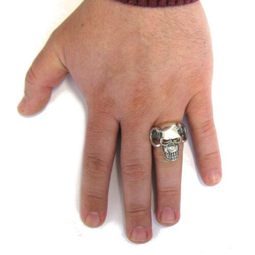 STERLING SILVER BIKER RING SOLID 925 DEVIL SKULL R001563 EMPRESS