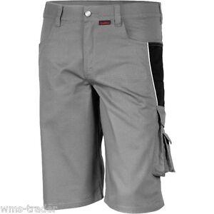 Arbeitsshorts-Pantalon-Court-de-travail-Short-Bermuda-Qualitex-Pro-gris-noir
