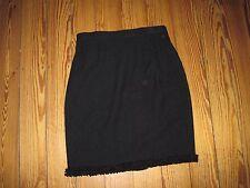 LUXUS Escada BOUCLE COUTURE knit Strick Rock skirt Borte schwarz 34/36 NP980,-