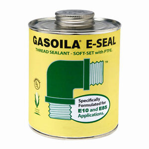 Gasoila GE08 Thread Sealant E-SEAL for Ethanol E85 1/2 pt. w/brush inside - PTFE